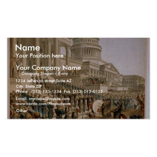 The President of United States at Washington Double-Sided Standard Business Cards (Pack Of 100)
