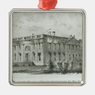 The President's House After its Destruction Christmas Tree Ornaments