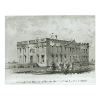 The President's House After its Destruction Postcard