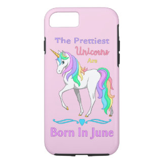 The Prettiest Rainbow Unicorns Are Born In June iPhone 7 Case