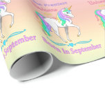 The Prettiest Rainbow Unicorns Are Born In June Wrapping Paper