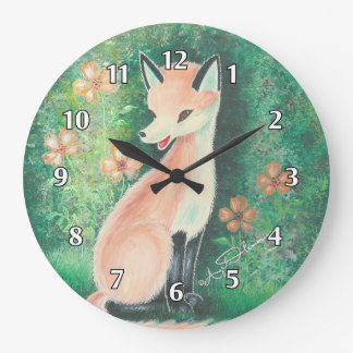 The Pretty Little Fox Wall Clock