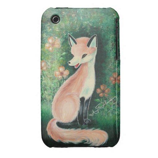The Pretty Little Fox iPhone 3 Case-Mate Case