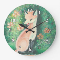 The Pretty Little Fox Large Clock