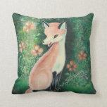 The Pretty Little Fox Throw Pillow