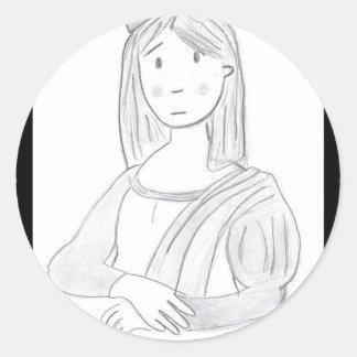 The pretty Luisa Classic Round Sticker