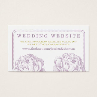 The Pretty Peony Floral Wedding Collection Business Card