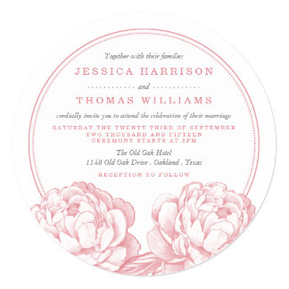 The Pretty Peony Floral Wedding Collection Card