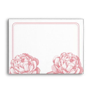 The Pretty Peony Floral Wedding Collection Envelope
