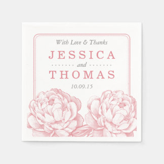 The Pretty Peony Floral Wedding Collection Paper Napkin