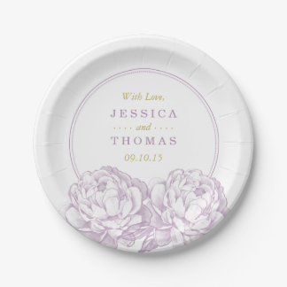 The Pretty Peony Floral Wedding Collection Paper Plate