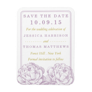 The Pretty Peony Floral Wedding Collection Rectangular Photo Magnet