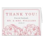 The Pretty Peony Floral Wedding Collection Stationery Note Card