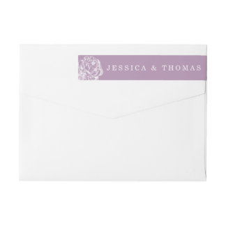 The Pretty Peony Floral Wedding Collection Wrap Around Label