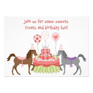 The Pretty Ponies Horse Birthday Invitation