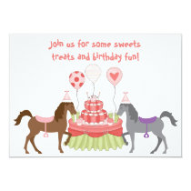The Pretty Ponies Horse Birthday Party Invitation