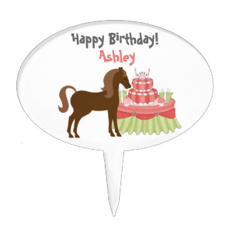 The Pretty Ponies Horse Cake Topper