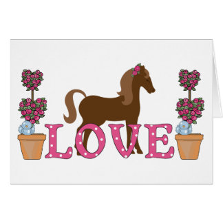 The Pretty Ponies Love Horse Greeting Card
