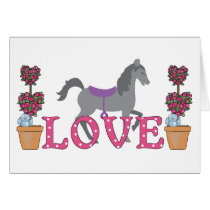 The Pretty Ponies Love Horse Valentine's Day Card