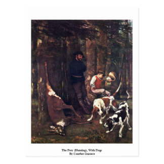 The Prey (Hunting), With Dogs By Courbet Gustave Postcard