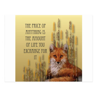 The Price Of Anything Is The Amount Of Life Yoy Ex Postcard