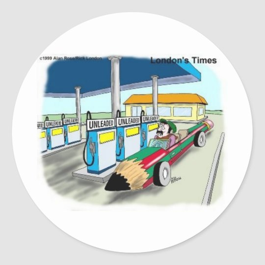 The Price Of Gas Funny Cartoon Gifts & Collectible Classic Round Sticker