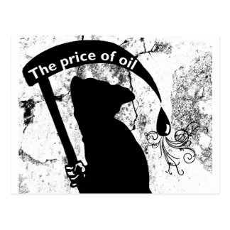 The price of oil postcard