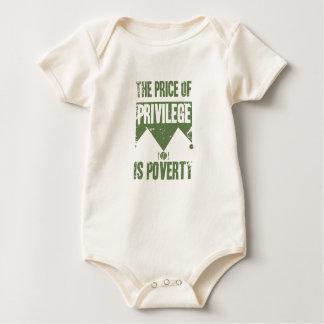 The price of privilege is poverty baby bodysuit