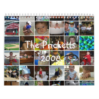 The Pricketts 2008 Wall Calendars
