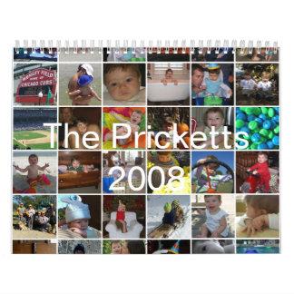 The Pricketts 2008 Calendar