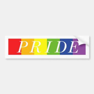 The Pride Line Car Bumper Sticker