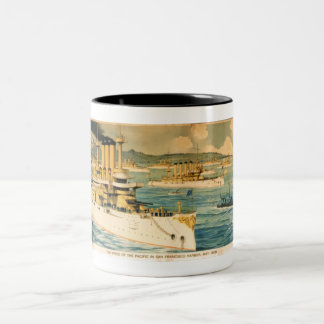 The Pride of Pacific in San Francisco Harbor, May  Two-Tone Coffee Mug