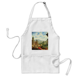 The Pride Of The Beggar Sitting On The Train Adult Apron