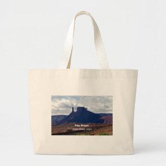 The Priest: Moab, Utah Large Tote Bag