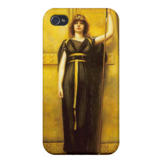 The Priestess - Godward - Fine Art Painting iPhone 4 Covers
