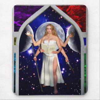 The Priestess Tarot Card Art Mouse Pad