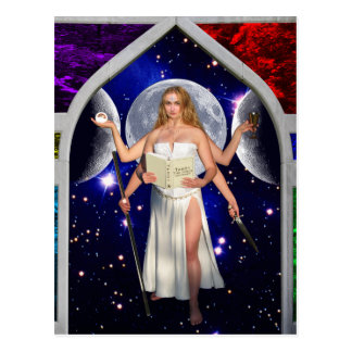 The Priestess Tarot Card Art Postcard
