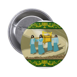 The Priests and the Holy Ark of the covenant Pinback Button