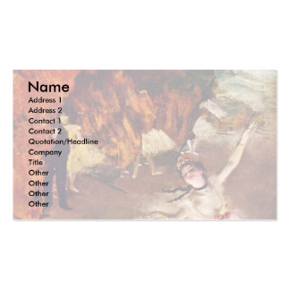 The Prima Ballerina (Rosita Mauri) By Edgar Degas Double-Sided Standard Business Cards (Pack Of 100)