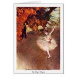 The Prima Ballerina (Rosita Mauri) By Edgar Degas Card