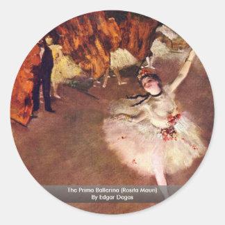 The Prima Ballerina (Rosita Mauri) By Edgar Degas Classic Round Sticker