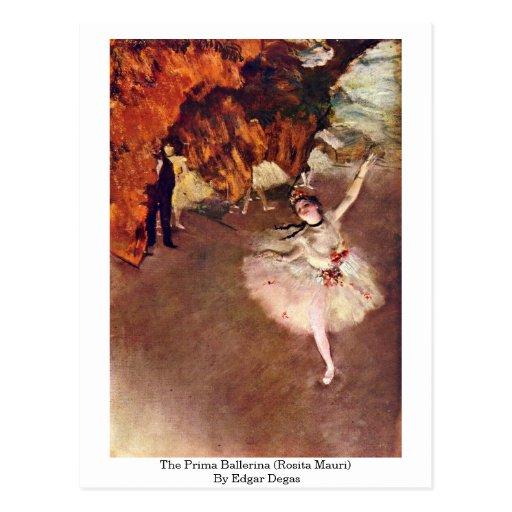 The Prima Ballerina (Rosita Mauri) By Edgar Degas Post Card