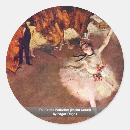 The Prima Ballerina (Rosita Mauri) By Edgar Degas Round Sticker