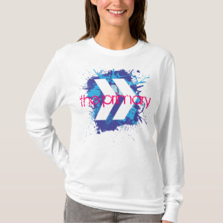 The Primary, Blue Splash Ladies Long Sleave T-Shirt