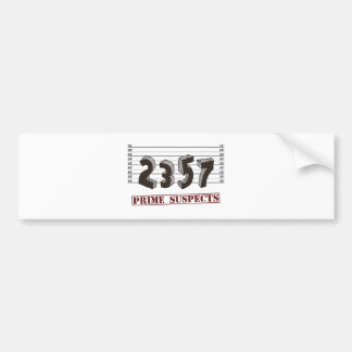 The Prime Number Suspects Bumper Sticker