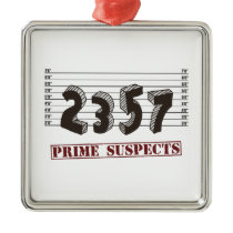 The Prime Number Suspects Metal Ornament