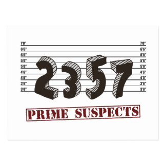 The Prime Number Suspects Postcard