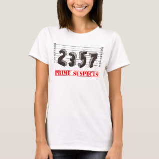 The Prime Number Suspects T-shirt at Zazzle