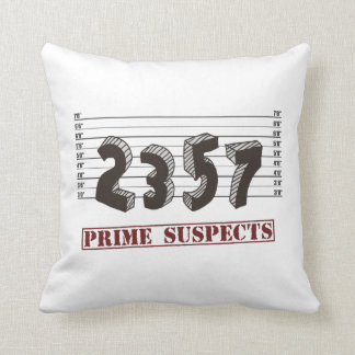 The Prime Number Suspects Throw Pillow