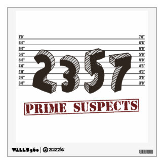 The Prime Number Suspects Wall Decal